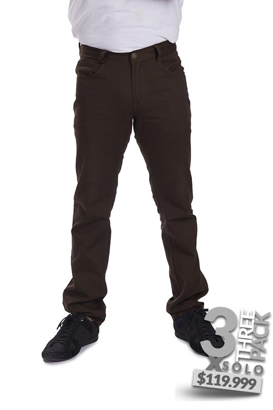 Pantalon De Dril Color Cafe Atm Jeans